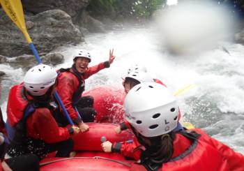 利根川ラフティングの水量が落ち着いてきました。