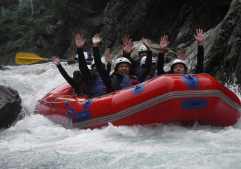 Rafting with cold wind!!!