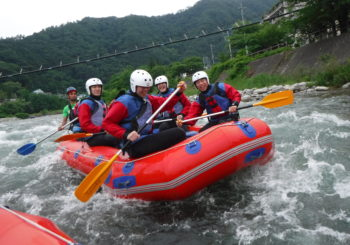 Rafting adventure in Minakami