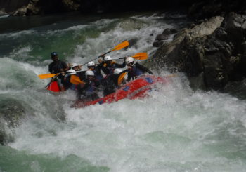 Whitewater rafting in Minakami