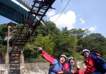 朽ちた吊り橋